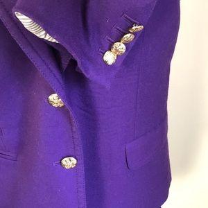 J. Crew Jackets & Coats - J CREW Schoolboy Blazer  Purple Wool Size 12.